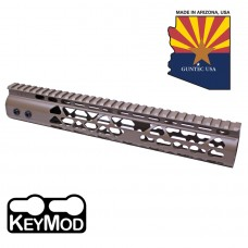 "10"" AIR LITE KEYMOD FREE FLOATING HANDGUARD WITH MONOLITHIC TOP RAIL (FLAT DARK EARTH)"