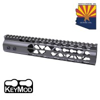 "10"" AIR LITE KEYMOD FREE FLOATING HANDGUARD WITH MONOLITHIC TOP RAIL (O.D. GREEN)"