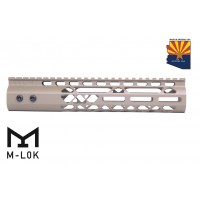 "10"" AIR LITE M-LOK FREE FLOATING HANDGUARD WITH MONOLITHIC TOP RAIL (FLAT DARK EARTH)"
