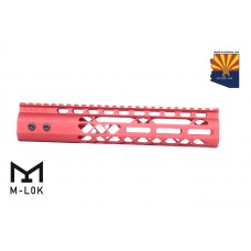 "10"" AIR LITE M-LOK FREE FLOATING HANDGUARD WITH MONOLITHIC TOP RAIL (RED)"
