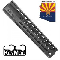 "10"" ULTRA LIGHTWEIGHT THIN KEY MOD FREE FLOATING HANDGUARD WITH MONOLITHIC TOP RAIL"