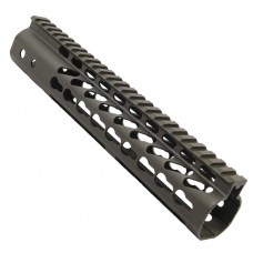 "10"" ULTRA LIGHTWEIGHT THIN KEY MOD FREE FLOATING HANDGUARD WITH MONOLITHIC TOP RAIL (OD GREEN)"