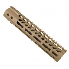 "10"" ULTRA LIGHTWEIGHT THIN M-LOK SYSTEM FREE FLOATING HANDGUARD WITH MONOLITHIC TOP RAIL (FLAT DARK EARTH)"
