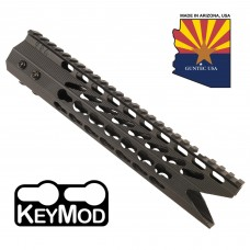 "10"" ULTRA SLIMLINE OCTAGONAL 5 SIDED KEY MOD FREE FLOATING HANDGUARD WITH ""SHARK MOUTH"" CUT"