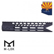 "10"" ULTRA SLIMLINE OCTAGONAL 5 SIDED M-LOK FREE FLOATING HANDGUARD WITH ""SHARK MOUTH"" CUT"