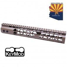 "12"" AIR LITE KEYMOD FREE FLOATING HANDGUARD WITH MONOLITHIC TOP RAIL (FLAT DARK EARTH)"