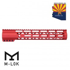 "12"" AIR-LOK SERIES M-LOK COMPRESSION FREE FLOATING HANDGUARD WITH MONOLITHIC TOP RAIL (RED)"