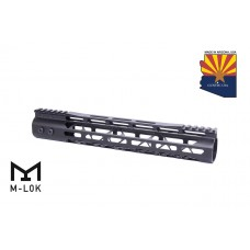 12″ Mod Lite Skeletonized Series M-LOK Free Floating Handguard With Monolithic Top Rail (Anodized Black)