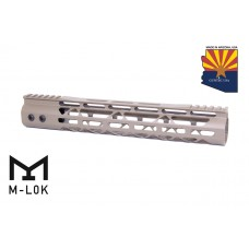 12″ Mod Lite Skeletonized Series M-LOK Free Floating Handguard With Monolithic Top Rail (Flat Dark Earth)