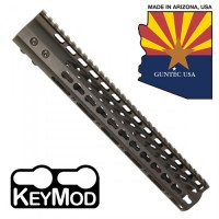 "12"" ULTRA LIGHTWEIGHT THIN KEY MOD FREE FLOATING HANDGUARD WITH MONOLITHIC TOP RAIL"