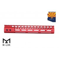 "12"" ULTRA LIGHTWEIGHT THIN M-LOK SYSTEM FREE FLOATING HANDGUARD WITH MONOLITHIC TOP RAIL (RED)"