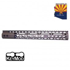 "15"" AIR LITE KEYMOD FREE FLOATING HANDGUARD WITH MONOLITHIC TOP RAIL (BURNT BRONZE)"