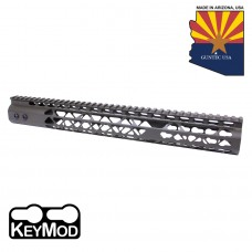"""15"""" AIR LITE KEYMOD FREE FLOATING HANDGUARD WITH MONOLITHIC TOP RAIL (O.D. GREEN)"""