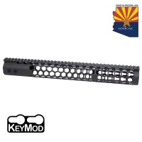 "15"" AIR LITE SERIES ""HONEYCOMB"" KEYMOD FREE FLOATING HANDGUARD WITH MONOLITHIC TOP RAIL"