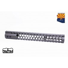 """15"""" AIR LITE SERIES """"HONEYCOMB"""" KEYMOD FREE FLOATING HANDGUARD WITH MONOLITHIC TOP RAIL(O.D. GREEN)"""