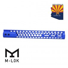 "15"" AIR LITE SERIES ""HONEYCOMB"" M-LOK FREE FLOATING HANDGUARD WITH MONOLITHIC TOP RAIL (BLUE)"