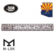 "15"" AIR LITE SERIES M-LOK FREE FLOATING HANDGUARD WITH MONOLITHIC TOP RAIL (.308 CAL)(FLAT DARK EARTH)"