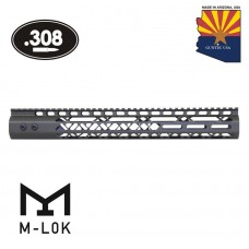 "15"" AIR LITE SERIES M-LOK FREE FLOATING HANDGUARD WITH MONOLITHIC TOP RAIL (.308 CAL)(OD GREEN)"