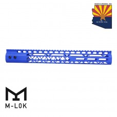 "15"" AIR LITE SERIES M-LOK FREE FLOATING HANDGUARD WITH MONOLITHIC TOP RAIL (BLUE)"