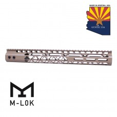 "15"" AIR LITE SERIES M-LOK FREE FLOATING HANDGUARD WITH MONOLITHIC TOP RAIL (FLAT DARK EARTH)"