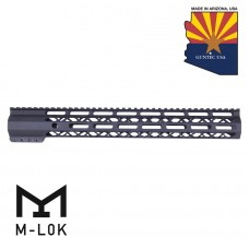 "15"" AIR-LOK SERIES M-LOK COMPRESSION FREE FLOATING HANDGUARD WITH MONOLITHIC TOP RAIL"