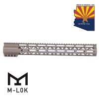 "15"" AIR-LOK SERIES M-LOK COMPRESSION FREE FLOATING HANDGUARD WITH MONOLITHIC TOP RAIL (FLAT DARK EARTH)"