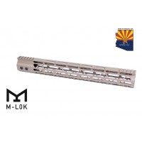 "15"" MOD LITE SKELETONIZED SERIES M-LOK FREE FLOATING HANDGUARD WITH MONOLITHIC TOP RAIL (FLAT DARK EARTH)"