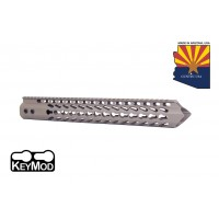 "15"" ""TRIDENT"" SERIES ULTRA LIGHTWEIGHT THIN KEY MOD FREE FLOATING HANDGUARD (FLAT DARK EARTH)"