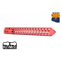 "15"" ""TRIDENT"" SERIES ULTRA LIGHTWEIGHT THIN KEY MOD FREE FLOATING HANDGUARD (RED)"