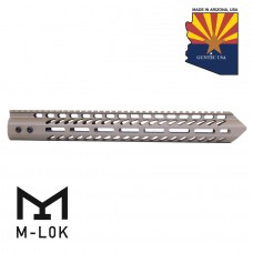"15"" ""TRIDENT"" SERIES ULTRA LIGHTWEIGHT THIN M-LOK FREE FLOATING HANDGUARD (FLAT DARK EARTH)"