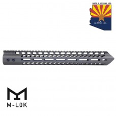 "15"" ""TRIDENT"" SERIES ULTRA LIGHTWEIGHT THIN M-LOK FREE FLOATING HANDGUARD (OD GREEN)"