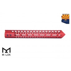 "15"" ""TRIDENT"" SERIES ULTRA LIGHTWEIGHT THIN M-LOK FREE FLOATING HANDGUARD (RED)"