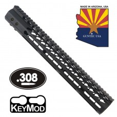 "15"" ULTRA LIGHTWEIGHT THIN KEY MOD FREE FLOATING HANDGUARD WITH MONOLITHIC TOP RAIL (.308 CAL)"