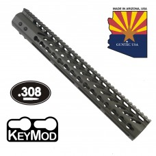 "15"" ULTRA LIGHTWEIGHT THIN KEY MOD FREE FLOATING HANDGUARD WITH MONOLITHIC TOP RAIL (.308 CAL) (O.D. GREEN)"