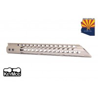 "15"" ULTRA LIGHTWEIGHT THIN KEY MOD FREE FLOATING HANDGUARD WITH SLANT NOSE (FLAT DARK EARTH)"