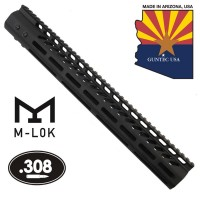"15"" ULTRA LIGHTWEIGHT THIN M-LOK SYSTEM FREE FLOATING HANDGUARD WITH MONOLITHIC TOP RAIL (.308 CAL)"