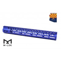 "15"" ULTRA LIGHTWEIGHT THIN M-LOK SYSTEM FREE FLOATING HANDGUARD WITH MONOLITHIC TOP RAIL (BLUE)"