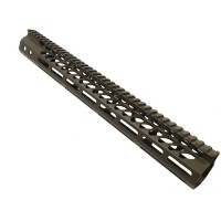 "15"" ULTRA LIGHTWEIGHT THIN M-LOK SYSTEM FREE FLOATING HANDGUARD WITH MONOLITHIC TOP RAIL (OD GREEN)"