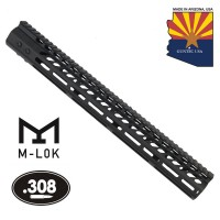 "16.5"" ULTRA LIGHTWEIGHT THIN M-LOK FREE FLOATING HANDGUARD WITH MONOLITHIC TOP RAIL (.308 CAL)"