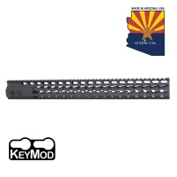 "16.5"" ULTRA SLIMLINE OCTAGONAL 5 SIDED KEY MOD FREE FLOATING HANDGUARD WITH MONOLITHIC TOP RAIL (OD GREEN)"
