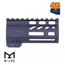 "4"" AIR-LOK SERIES M-LOK COMPRESSION FREE FLOATING HANDGUARD WITH MONOLITHIC TOP RAIL"
