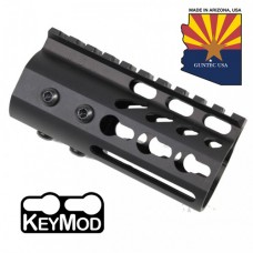 "4"" ULTRA LIGHTWEIGHT THIN KEY MOD FREE FLOATING HANDGUARD WITH MONOLITHIC TOP RAIL"