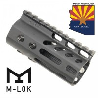 "4"" ULTRA LIGHTWEIGHT THIN M-LOK FREE FLOATING HANDGUARD WITH MONOLITHIC TOP RAIL"