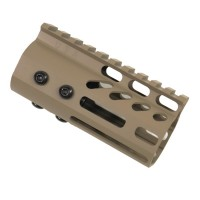 "4"" ULTRA LIGHTWEIGHT THIN M-LOK FREE FLOATING HANDGUARD WITH MONOLITHIC TOP RAIL (FLAT DARK EARTH)"