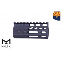 "4"" ULTRA SLIMLINE OCTAGONAL 5 SIDED M-LOK FREE FLOATING HANDGUARD WITH MONOLITHIC TOP RAIL"