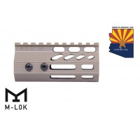 "4"" ULTRA SLIMLINE OCTAGONAL 5 SIDED M-LOK FREE FLOATING HANDGUARD WITH MONOLITHIC TOP RAIL (FLAT DARK EARTH)"