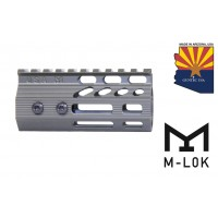 "4"" ULTRA SLIMLINE OCTAGONAL 5 SIDED M-LOK FREE FLOATING HANDGUARD WITH MONOLITHIC TOP RAIL (O.D. GREEN)"