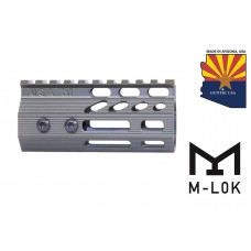 """4"""" ULTRA SLIMLINE OCTAGONAL 5 SIDED M-LOK FREE FLOATING HANDGUARD WITH MONOLITHIC TOP RAIL (O.D. GREEN)"""