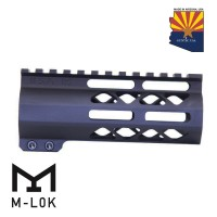 "5"" AIR-LOK SERIES M-LOK COMPRESSION FREE FLOATING HANDGUARD WITH MONOLITHIC TOP RAIL"