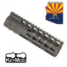 """6.75"""" ULTRA LIGHTWEIGHT THIN KEY MOD FREE FLOATING HANDGUARD WITH MONOLITHIC TOP RAIL"""